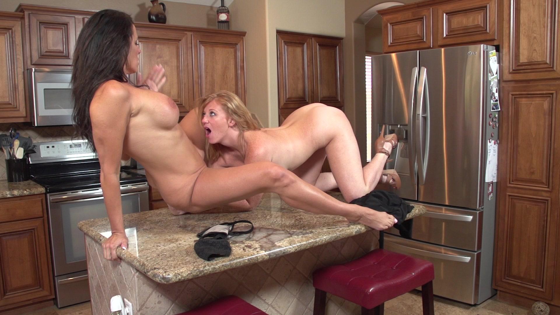 Lesbian sex at kitchen — img 13