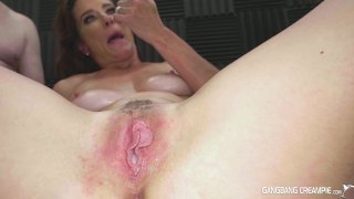 Streaming porn video still #9 from Gangbang Creampie: Fuck And Fill My Wife, Please