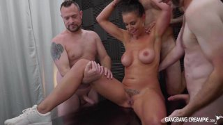 Streaming porn video still #2 from Gangbang Creampie: Fuck And Fill My Wife, Please