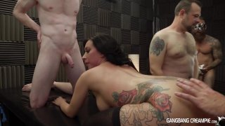 Streaming porn video still #6 from Gangbang Creampie: Ink'd Edition 2