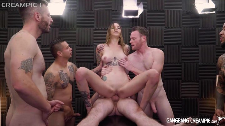 Streaming porn video still #2 from Gangbang Creampie: Ink'd Edition 2