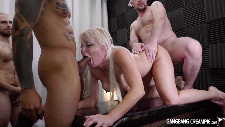 Streaming porn video still #1 from Gangbang Creampie: Midwest MILFs
