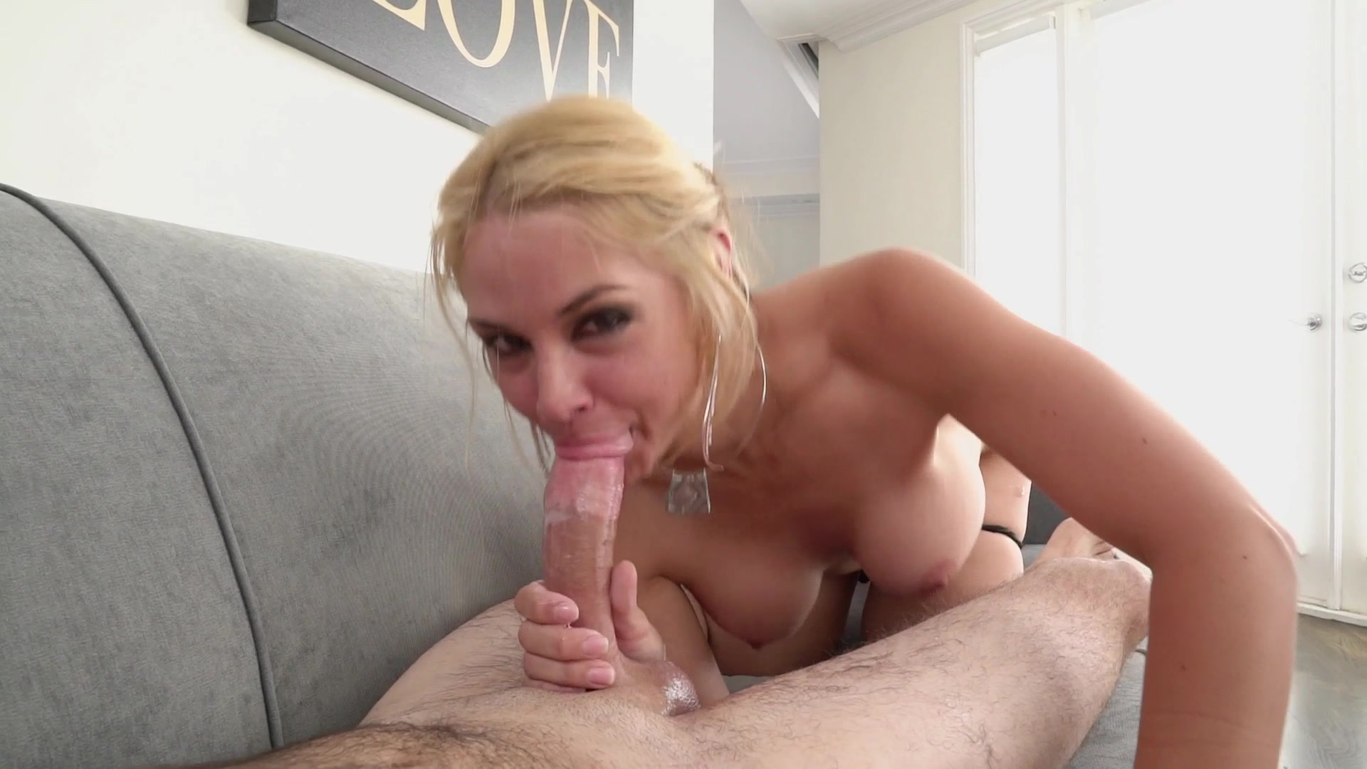 Stroke and blowjob with