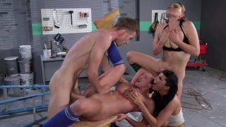 Streaming porn video still #9 from Big Tits In Uniform 14