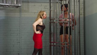 Bound and Gagged Brunette Dixie Comet Gets Worked by Devious Blonde Aiden Starr