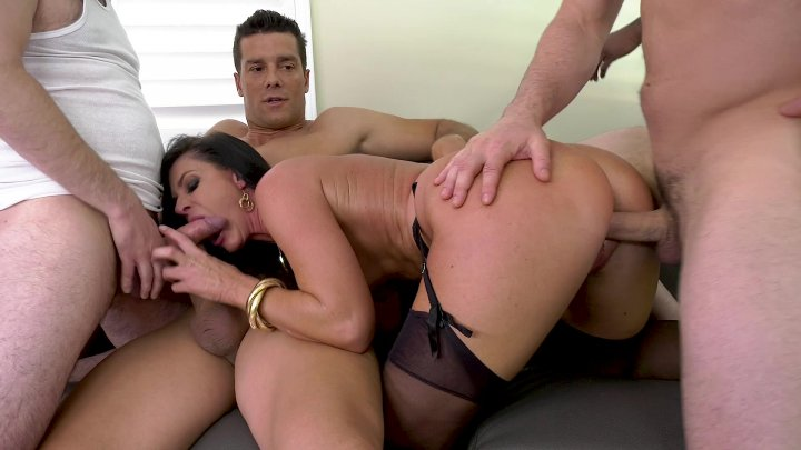 Streaming porn video still #2 from LeWood Gangbang: Battle Of The MILFs 2