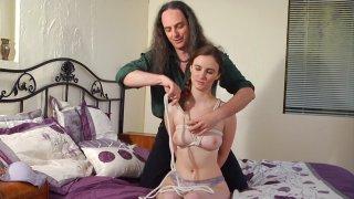 Kink School Tim Woodman demonstrates intermediate rope bondage on Jay Taylor
