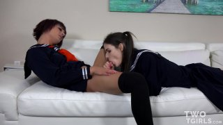 Streaming porn video still #3 from TGirl Schoolgirls Vol. 2