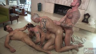 Four Way Muscle Daddy Orgy