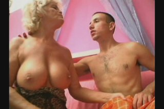 Streaming porn scene video image #1 from Naughty grandson bangs his own grandmother