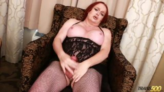 Streaming porn video still #5 from TS Cock Strokers 37