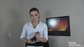 Streaming porn video still #4 from Tgirl Playtime