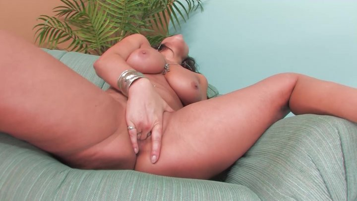 Streaming porn video still #2 from Busty Brunette Playtime