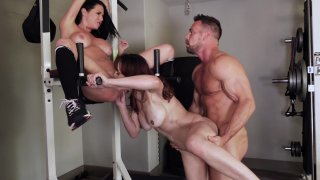 Gym Babes Veronica Avluv and Squirting Goddess Cytherea Have a Steamy Threesome Screenshot