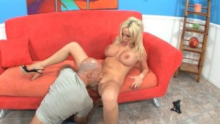 Sexy Blonde Loves Big Tits