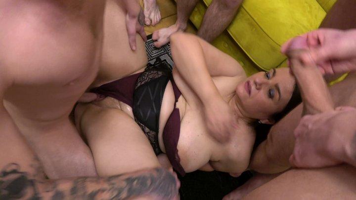 Streaming porn video still #1 from Granny's Crazy Sperm Bang