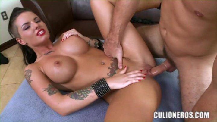 Leg blonde orgasm with