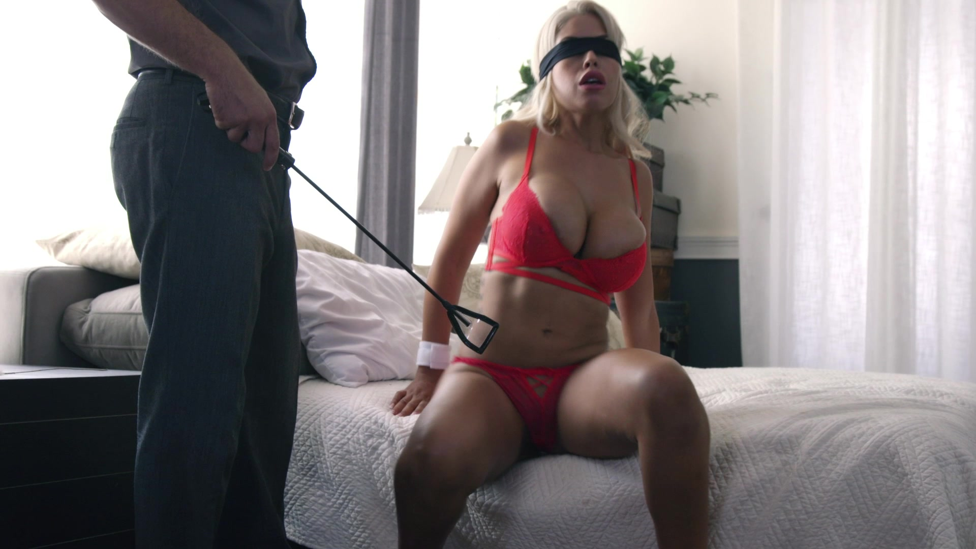 Busty milf tied up and fucked
