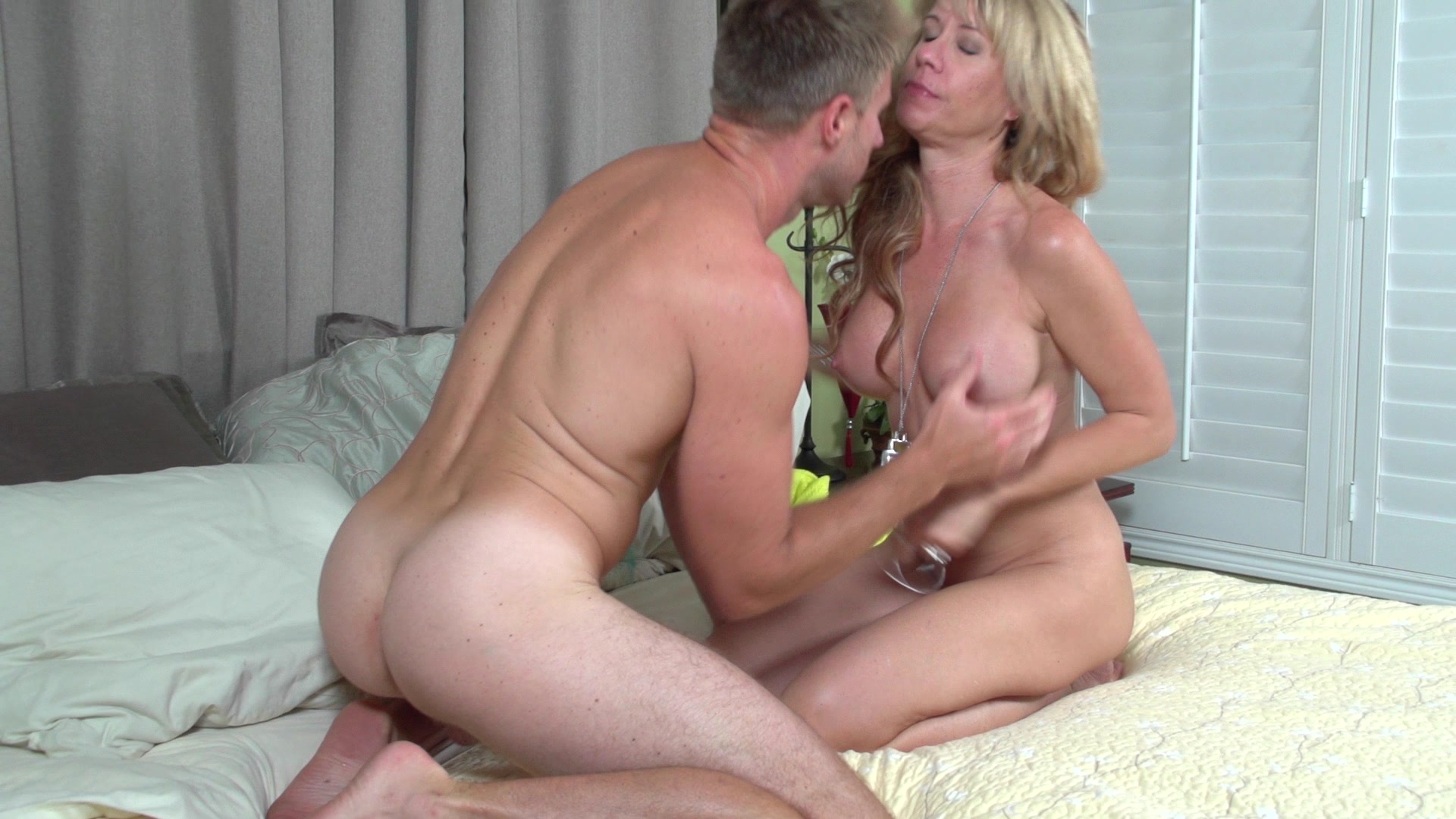 Mom shows son sex technique