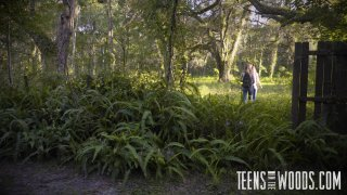 Streaming porn video still #3 from Teens In The Woods: Sydney Cole