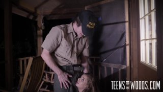 Streaming porn video still #4 from Teens In The Woods: Sydney Cole