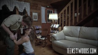 Streaming porn video still #5 from Teens In The Woods: Sydney Cole