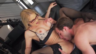 Sexy Blonde Sarah Vandella Has Hot Sex with a Younger Stud