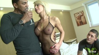 Streaming porn scene video image #1 from Sissy Husband Lets His Wife Get Fucked By BBC & Creampied