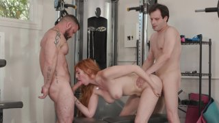 Sexy Redhead Lauren Phillips Fucks in a Bisexual Threesome