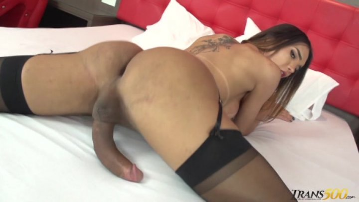 Streaming porn video still #2 from TS Cock Strokers 46