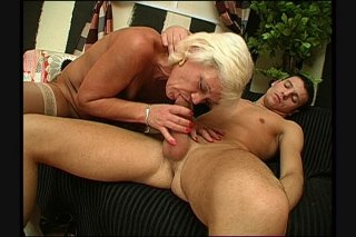 Streaming porn scene video image #4 from Grandmas hairy pussy drilled by naughty nephew