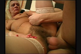 Streaming porn scene video image #6 from Grandmas hairy pussy drilled by naughty nephew