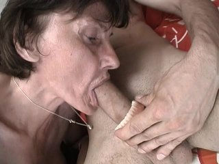 Streaming porn scene video image #2 from Grandma gets cum on her plaque from grandson