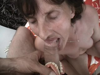 Streaming porn scene video image #4 from Grandma gets cum on her plaque from grandson