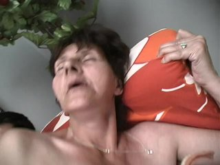 Streaming porn scene video image #7 from Grandma gets cum on her plaque from grandson