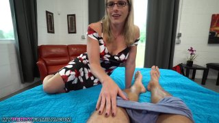 Stepmother Giving Her Son A Helping Hand...