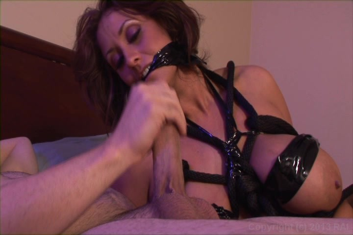 Bound and cock gagged milf