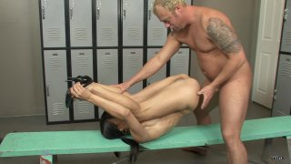Streaming porn scene video image #3 from Locker Room Anal Domination