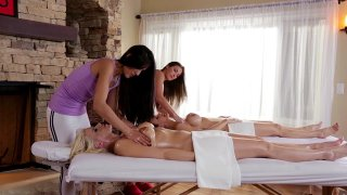Streaming porn video still #5 from Mother Daughter Spa Day