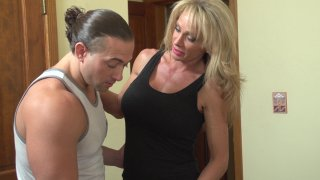 Hot Busty MILF Raquel Sultra Sucks and Fucks the Big Cock of a Hung Stud