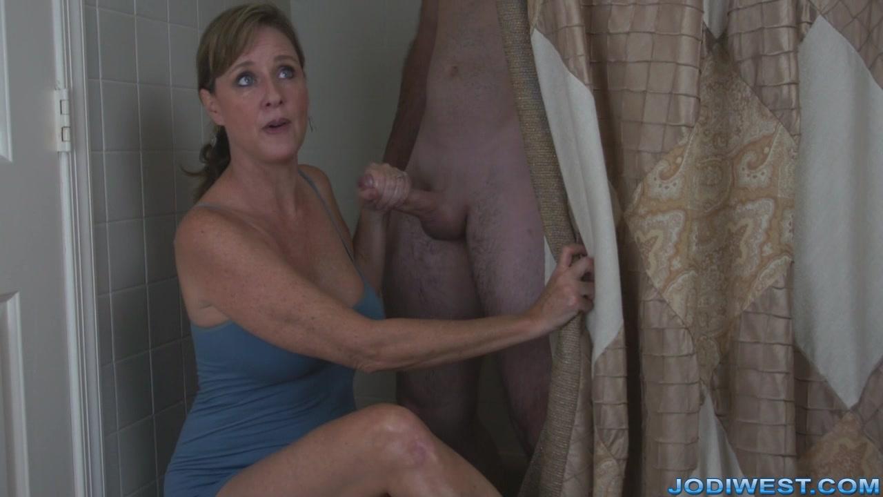 mom son in shower naked
