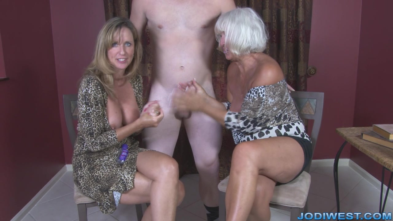 Jerking race between mom and daughter
