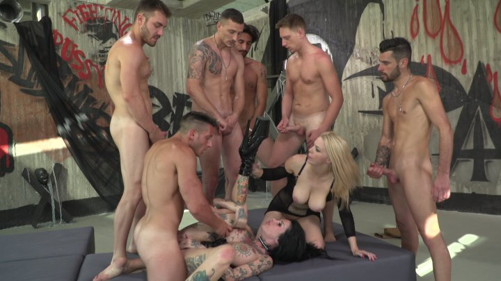 Streaming porn video still #6 from Rocco's Best Academy Gangbangs