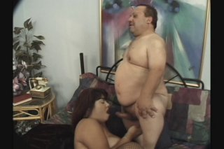 Streaming porn scene video image #2 from Midget with big dick plays with BBW