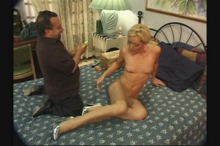 Streaming porn scene video image #7 from Small tits blonde get fucked by a midget guy