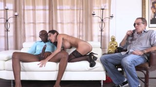 Streaming porn video still #5 from My Wife's First Black Cock
