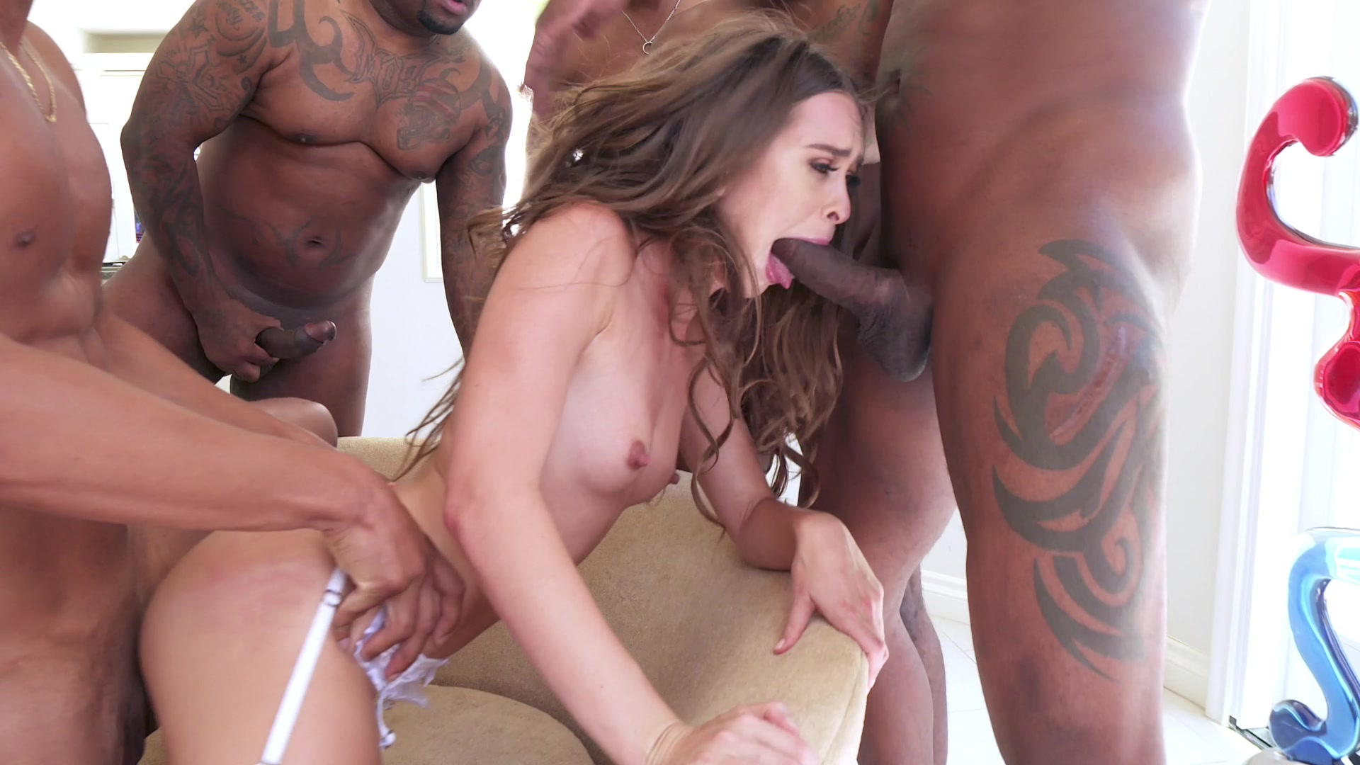 Free sample movie black gangbang
