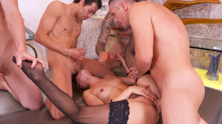 Streaming porn video still #1 from Gangbang Of Riley Reid, The