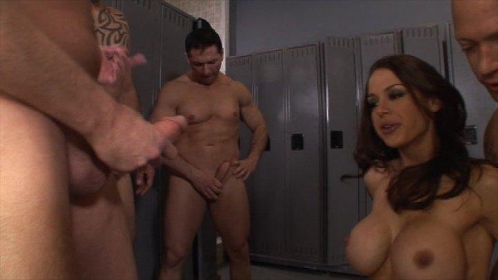 gang bang a porn star dressing room