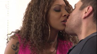 Streaming porn video still #1 from Desperate Black Wives: I Love White Meat 2